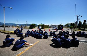 松代高等学校交通安全教室レポート